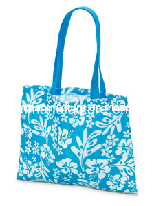 Flower Printing Beach Bag (KM6545) pictures & photos