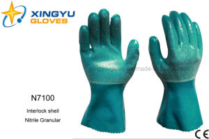 Nitrile Granular Interlock Shell (N7100) pictures & photos