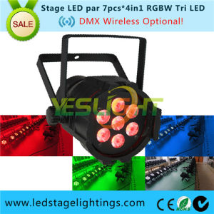 LED Stage Mini PAR/7PCS*10W RGBW Quad Stage Lighting PAR Can pictures & photos