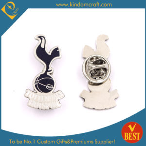 Custom High Quality Zinc Alloy Imitation Enamel Basketball Pin Badge in Black pictures & photos