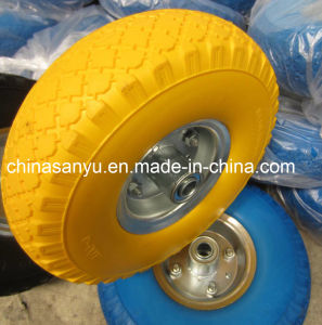 PU Foam Wheel (3.00-4) with Yellow Color