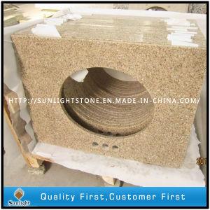 Yellow Rust Granite G682 Yellow Granite Vanity Tops with Sink pictures & photos