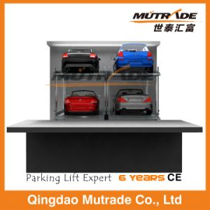 Two Post Hydraulic Underground Vertical Stacker Lift for Home Garage pictures & photos