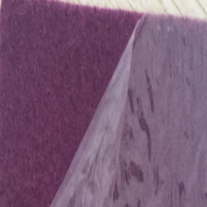 Polyester Plain Red Carpet with Film Coated pictures & photos
