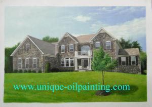 Oil Painting, House Oil Painting, Oil Painting From Photo