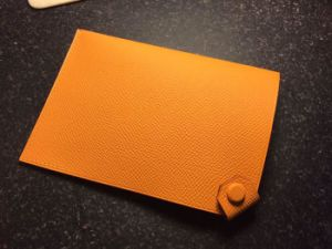 Passport Cover Case 93 Orange Epsom Genuine Leather Handmade Covers Cases
