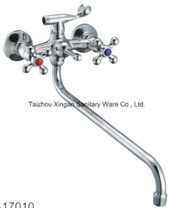 Cross Handle Bathtub Zinc Mixer (17010)