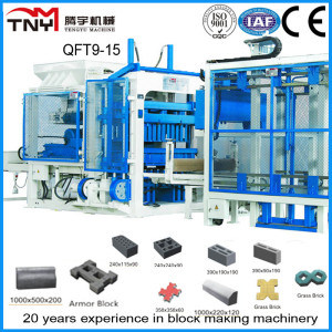 Automatic High Quality Block Making Machine Brick Machine (Qft9-15) pictures & photos