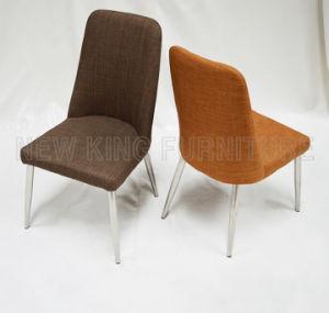 Modern Cheap Fashion Chrome Steel Foot Fabric Dining Chair (NK-DC051)