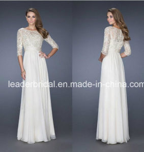 3/4 Sleeves Evening Dress Lace Chiffon Vestidos Gowns Mother Party Prom Dresses Ld1553 pictures & photos