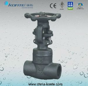 Weld Bonnet Forged Sw Gate Valve pictures & photos
