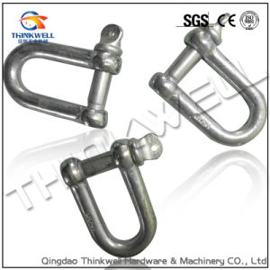 Open Die Forging Electric Galvanized European Type Large Dee Shackle pictures & photos