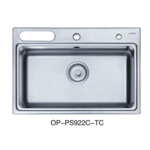 Oppein Stainless Steel Single Bowl Square Kitchen Sink (OP-PS922C-TC) pictures & photos