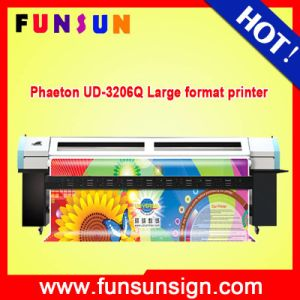High Resolution! Wide Format Phaeton Ud 3206q Inkjet Digital Solvent Printer with 6 PCS Spt 510 35pl Heads pictures & photos