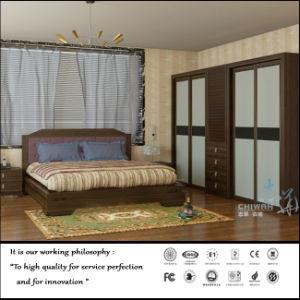 Wood Veneer Swing Door Wardrobe (ZH007) pictures & photos