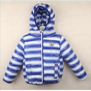 Apparel Striped Children′s Cotton Padded with Hood for Winter Clothing pictures & photos