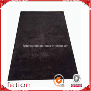 Non-Slip Area Rug 100% Polyester Plain Shaggy Carpet for Home