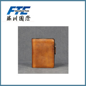 2017 Latest Cheap Solid Coffee Color Genuine Leather Wallet pictures & photos