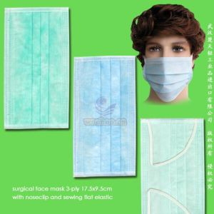 Disposable 1-Ply 2-Ply 3-Ply Face Mask with Elastic Ear-Loops pictures & photos