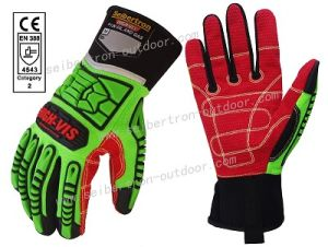 Seibertron High-Vis Deck Crew Cut-5 Durable Anti Cut Impact Resistant Oil and Gas Safety Gloves