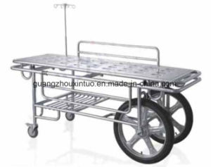 Ce ISO Approved Aluminum Adjustable Emergency Trolley Bed pictures & photos