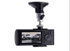 HD 2 Lens Car DVR DVR X3000 R300 Q9 with GPS and G-Sensor (FLY-DVR-R300)