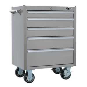 Langshuo Hot Sell 5 Drawers Steel Tool Chest with Wheel pictures & photos