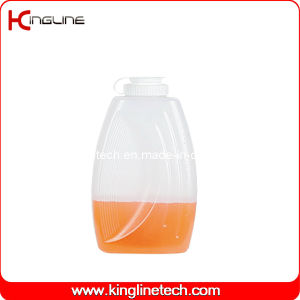 2L Round Plastic Water Jug Wholesale BPA Free with Lid (KL-8015) pictures & photos