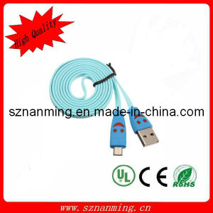 USB 2.0 to Micro Male Smile LED Data Sync Transfer Charger Cable 1m pictures & photos