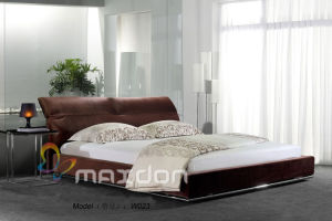 Modern Bedroon Soft Leather Bed (W023) pictures & photos