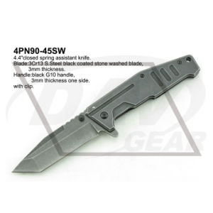 "4.5""Liner Lock Tactical Pocket Knife with Stone Washed pictures & photos"