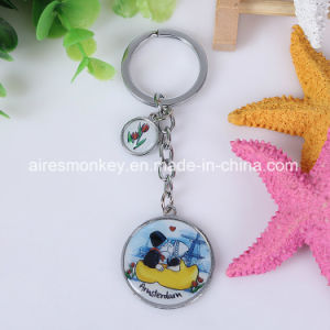 Zinc Alloy Metal Keychain with Cmyk Printed Epoxy Doming Epoxy Doming Keychain pictures & photos