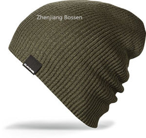 OEM Produce Cheap Acrylic Sports Whinter Customized Striped Slouch Beanie pictures & photos