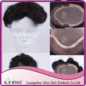 Toupee Hair Extension Men′s Virgin Human Hair Extension pictures & photos