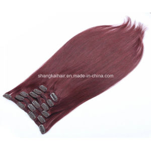 Clip Human Hair Extension Unprocessed Virgin Hair
