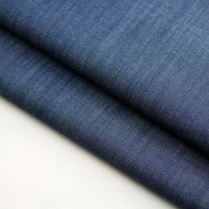 Stock Cotton Yarn Dyed Indigo Denim Fabric for Dress and Shirt pictures & photos