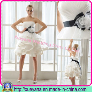 Strapless Organza Mini Homecoming Dresses (XYN-50)