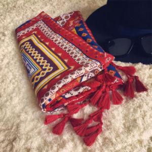 Fashion Retro Style Oversize Cotton Pashmina Turkey Scarf pictures & photos