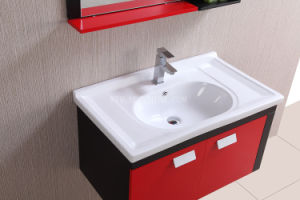 Red and Black PVC Bathroom Furniture pictures & photos