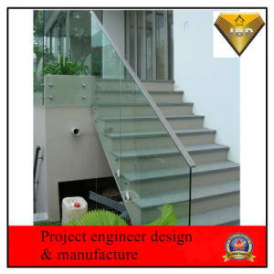Framless Stair Railing with Tempered Glass pictures & photos