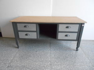 Contemporary Design TV Stand with 4 Drawers (FCJ03933)