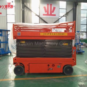 10m 300kg Hydraulic Battery Self Propelled Scissor Lift Table pictures & photos