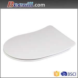 D Shape Modern Slim Design Duroplast Toilet Seat pictures & photos