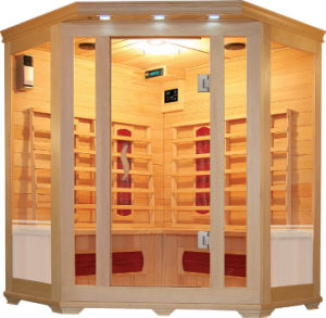 4 Person Corner Wooden Sauna (SMT-C040)