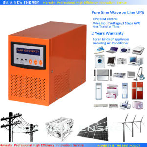 1000W Solar/Wind/Gas Generator/Battery Pure Sine Wave Inverter with Charger