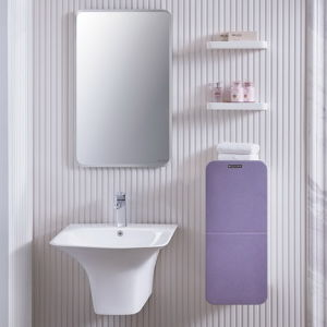 Fashion Purple Shiny Lacquer Bathroom Vanity Cabinet pictures & photos