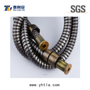 1.5m Antique Brass Plated Stainless Steel Flexible Extension Shower Hose (L1010-S) pictures & photos