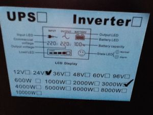 Peak Power 6000W DC24V AC220V 3000W Low Frequency Solar Power Inverter pictures & photos