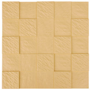 Yellow FRP Tile Look 3D Waterproof Wall Panel