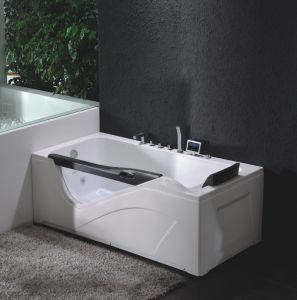 Corner Massage Bathtub with Tempered Glass pictures & photos